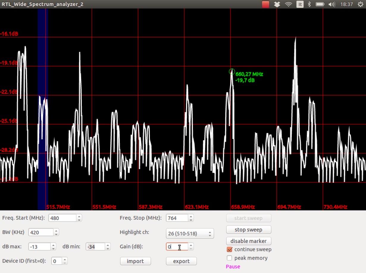 rtl_sdr wide spectrum analyzer